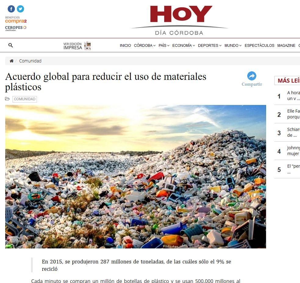 0c342a56ee7 Acuerdo global para reducir el uso de materiales plásticos.