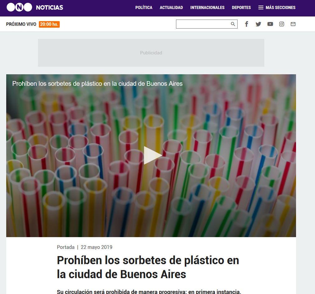 19a46ef9eb5 Prohíben los sorbetes de plástico en la Ciudad de Buenos Aires.