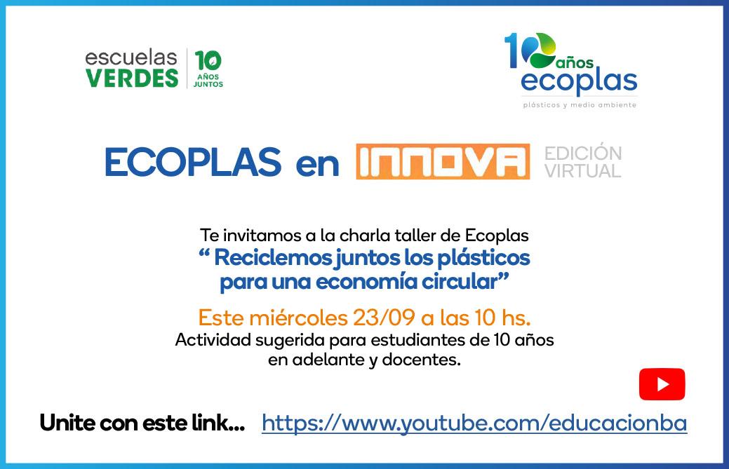 Invitacion INNOVA Escuelas verdes_Ecoplas